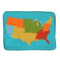 Jonathan Adler USA United States Map Needlepoint Throw Pillow Case