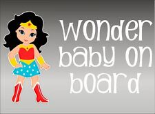 Wonder Woman WONDER Baby on Board / Amazon / Vinyl Vehicle Kids Graphics Decal