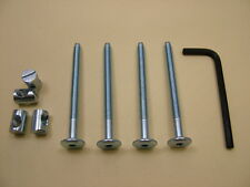 Lit/COT Bolts 4 Sets of M6 X 75 Mm Boulon, Allen Clés & 14 mm Baril Écrou = 9 objets
