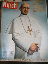 Paris Match N°770 11 janvier 1964 Numéro souvenir Paul VI en terre Sainte