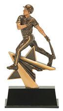 "7"" Male Baseball Star Power Pdu Resin Trophy Free Engraving"