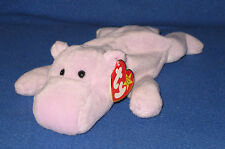 TY HAPPY the HIPPO BEANIE BABY - MINT with MINT TAG plus EXTRA CANADIAN TUSH TAG