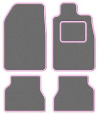 Austin Healey Super Velour Light Grey/Pink Trim Car mat set