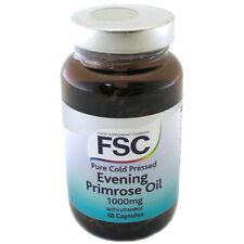 FSC puro pressato a freddo Evening Primrose Oil 1000mg con Vitamina E 60 capsule rigide