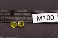 PERIDOT PAIR FACETED GEMSTONES 1.7 CT M100