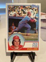 1983 Topps Pete Rose Philadelphia Phillies #100 Near Mint Or Mint