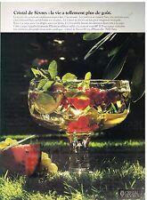 Publicité Advertising 1979 Le Cristal de Sèvres
