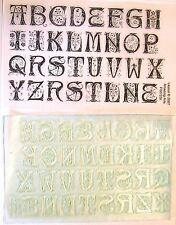UM Floral Letter set rubber stamp Full alphabet+ extras