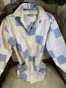 Orvis Patchwork Blouse. Cotton 40bx26lgth