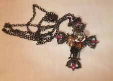 Punk/Gothic Cross With Roses And Skull Claire Halloween