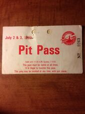 Pit Pass And 500 Club Pass From 1983 Cleveland 500