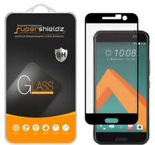 2X Supershieldz HTC 10 Full Cover Tempered Glass Screen Protector (Black)