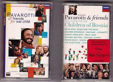 LOT OF 2 Pavarotti & Friends (war child/children of bosnia) Cassettes NEW