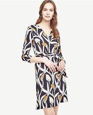 Ann Taylor Women's Calla Lily 3/4 Sleeve Wrap Dress, size 14, NWT