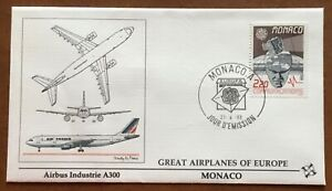 Great Airplanes Of Europe - Monaco - Airbus Industrie A300 -1988