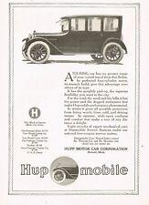 1917 Original Vintage Hupmobile Sedan Motor Car Automobile Art Print Ad