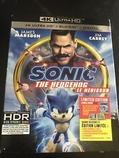 Sonic The Hedgehog 4K+Blu Ray+Digital With Slip New And Sealed