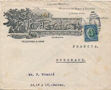 Habana Illustration Cover to France 5 Centavos Brief
