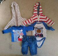 Baby Boys 0-3 Months Bundle Hoodie Jacket Long Sleeved Tops Jeans *29