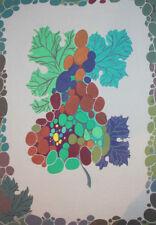 Vintage modernist gouache drawing flowers