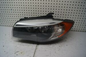 2011 2012 2013 BMW 1 Series Left Side Halogen Headlight OEM P/N 7263643
