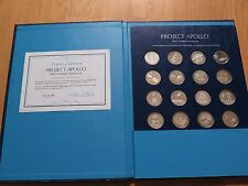 20 silver medals, PROJECT APOLLO 13, only 1269 sets! 9 oz silver + COA + Binder