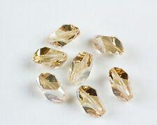 8 Swarovski Crystal Golden Shadow Color 16x10MM Cubist Crystal Beads #5650