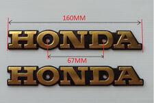 Gold Metal Emblem Gas Tank Badges 2x for Honda Super Sport CB CB550 CB650 CB750