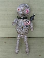 HAUNTED BLACK ARTS WITCHCRAFT SATANIC VOODOO DOLL POPPET~inverted cross amulet