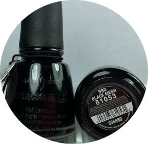 CHINA GLAZE Nail Polish CRACKLE  - BLACK MESH 980 Shatter Lacquer