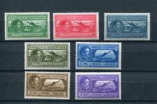 1930.ALBANIA.AEREO.POSTE ARIENNE.YVERT 29/35*.NUEVOS LEVE FIJASELLOS.(MH)CAT.45€