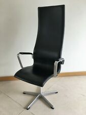 Fritz Hansen High Oxford Leather Chair by Arne Jacobsen 1996 model brand new