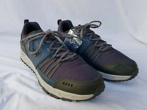 New Men's Skechers Escape Plan Trail Running Shoes 51591EWNVOR Navy & Orange