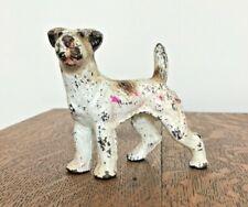 Cast Iron Fox Terrier Dog Statue Miniature Hubley Airedale
