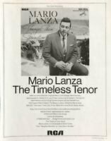 1968 RCA PRINT AD Mario Lanza The Timeless Tenor Younger Than Springtime