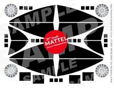 """Mattel-SPACE 1999 EAGLE-Cockpit Fenêtre-Sticker decals - 31"""" Mattel Modèles"""