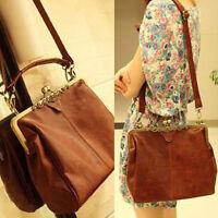 Neu Damen Leder Handtasche Bag Tasche Vintage Schultertasche Umhängetasche Lady