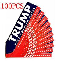 100PCS Donald Trump President 2020 Bumper Sticker Keep Make America Great New EN