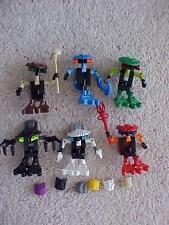 Lego Bionicle 6 Bohrok Va figures & krana 8550-8555 complet avec instructions