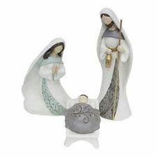 Nativity Set Holy Family 3 Piece Modern Baby Jesus Mary Joseph Large 16 Inch NEW