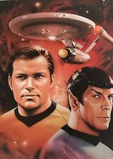 Classic Star Trek Captain Kirk/Spock Le Lithograph 177/1966 Signed By Brian Rood