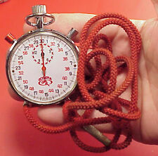 Olympia Water Resistant Split Second Chronograph StopWatch Register Timer Pocket
