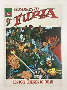 1972 SPANISH COMIC EL SARGENTO FURIA #135 SGT NICK FURY LA PRENSA MEXICO ESPAÑOL