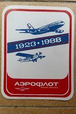 AUTOCOLLANT STICKER AUFKLEBER AEROFLOT SOVIET AIRLINES 1923-1988