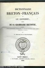 Dictionnaire Breton-Français.LE GONIDEC.1850.