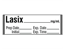 LASIX__mg/mL Medication Label Tape 500 roll