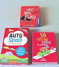 3 Reisespiele Spielsammlung Autoreisen Kartenspiel Kinder Spiele ab 8 Jahren