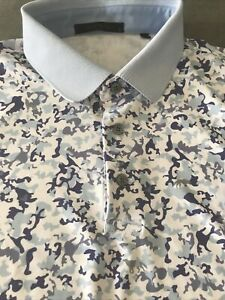 Greyson Golf Camowolf Polo Shirt Men's Size L Euc
