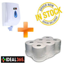 Paper and Dispenser Starter Pack, Includes 6 rolls. FREE NEXT DAY DELIVERY