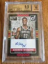2014-15 Donruss ANDREW WIGGINS All-Star Wrapper Redemption Auto SP RC BGS 9.5/10